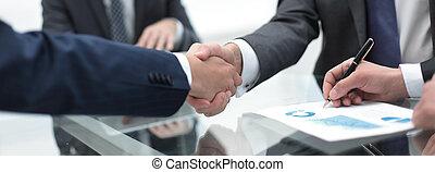 consoci, affari, chiudere, up.handshake