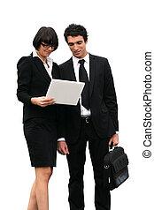 consoci, importante, lettura, documento affari