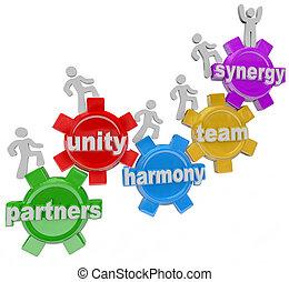 consoci, lavorativo, successo, insieme, sinergia, lavoro squadra
