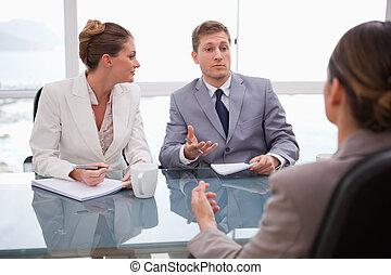 consoci, parlare, avvocato, affari