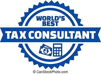 consulente, bottone, tassa, mondo, meglio