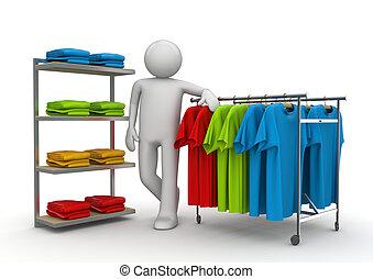 consulente, boutique, -, lavorante, collezione