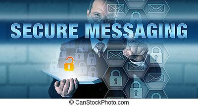 consulente, sicurezza, spinta, assicurare, messaging