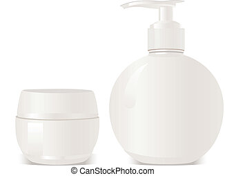 conta, sapone, cosmetica, vettore, gel