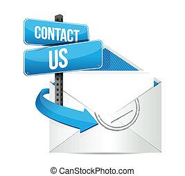 contatto, email, ci, segno
