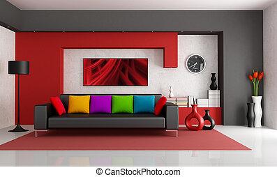 contemporaneo, stanza, vivente