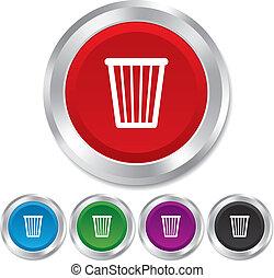 contenitore raccolta differenziata, icon., simbolo., segno