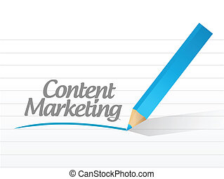 contenuto, marketing, scritto, illustrazione, message.