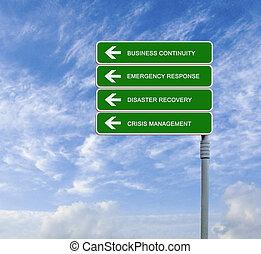 continuità, strada, affari firmano