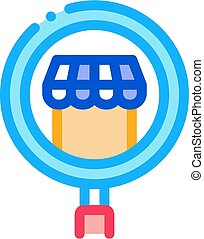 contorno, ricerca, icona, affari, vettore, illustrazione, negozio