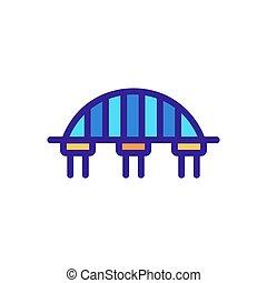 contorno, vector., illustrazione, ponte, simbolo, isolato, icona