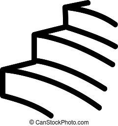 contorno, vector., illustrazione, simbolo, isolato, icona