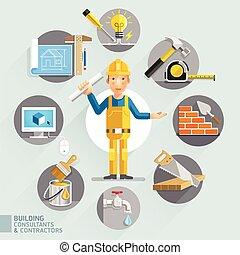 contractors., consulenti, costruzione, &