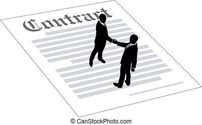 contratto, persone, accordo, affari firmano