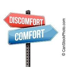 contro, disagio, conforto, segno strada