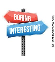contro, noioso, interessante, segno strada