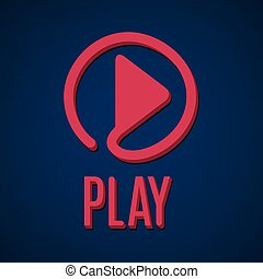 control., segno., interfaccia, gioco, media