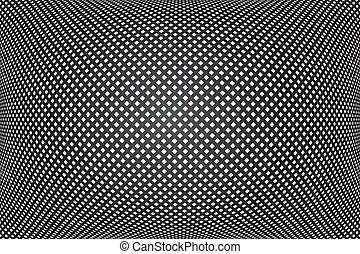 controllato, astratto, pattern., fondo., nero, convesso, geometrico, texture., 3d