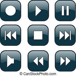 controllo, bottoni, audio-video