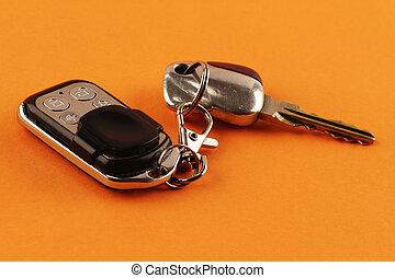 controllo, chiavi, allarme, remoto, automobile