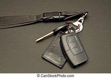 controllo, chiavi, set, remoto, automobile