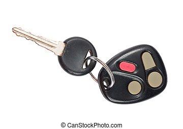 controllo, colpo, chiavi, automobile, su, plastica, chiudere, remoto