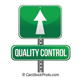 controllo, concetto, segno, traffico, qualità, strada