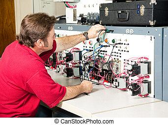 controllo, -, elettrico, motore, ingegneria