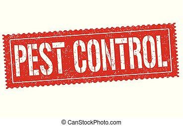 controllo, francobollo, peste, o, segno