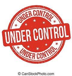 controllo, francobollo, segno, sotto, o
