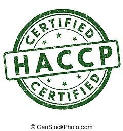 controllo, haccp, francobollo, analisi, segno, points), critico, (hazard, o