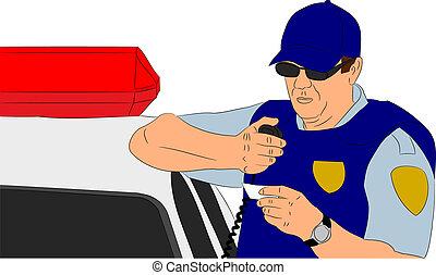 controllo, identificazione, poliziotto