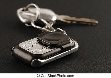 controllo, primo piano, remoto, chiavi, allarme automobile