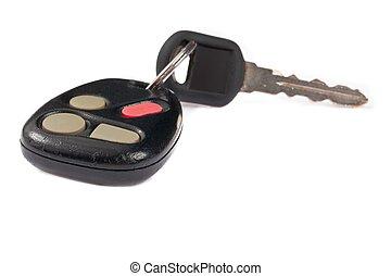 controllo, remoto, chiavi, automobile, fine, colpo