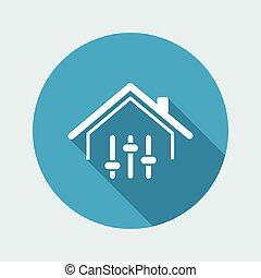 controllo, web, remoto, -, domanda, vettore, casa, icona