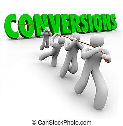conversions, parola, affari, reddito, lavorante, squadra, vendite, o, aumento, combinando, crescente, strengths, tirato, ditta, utili, migliorare