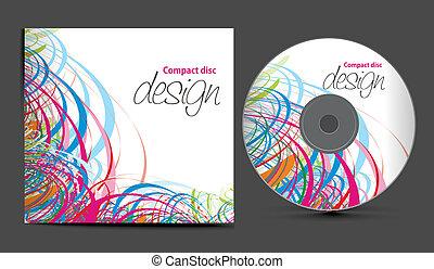 coperchio, disegno, cd