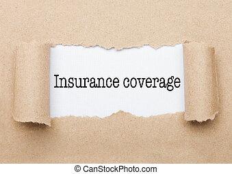 copertura, apparire, dietro, carta, testo, assicurazione