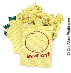 copia, importante, note, spazio