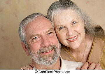 coppia, amare, maturo