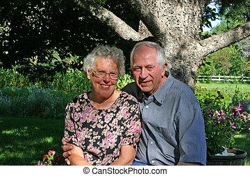 coppia, anziano
