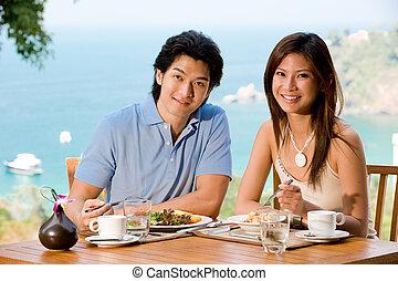 coppia, colazione