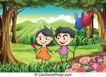 coppia, datazione, giungla