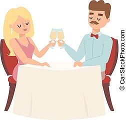 coppia, datazione, ristorante