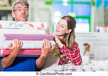 coppia, ferramenta, migliorare, acquisto casa, carte parati