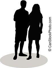 coppia, giovani persone