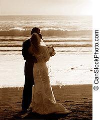 coppia, matrimonio spiaggia