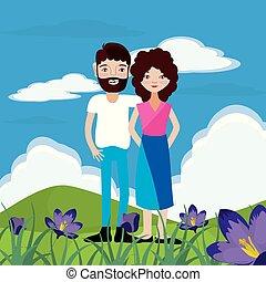 coppia, natura