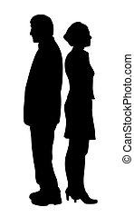 coppia, problemi, infelice, relazione