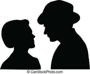 coppia, silenzioso